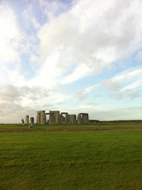 Stonehenge; 100 words about summoning a storm