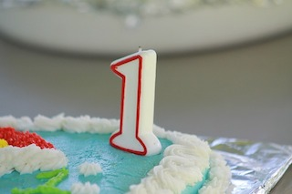 100 words about the blog's one year anniversary