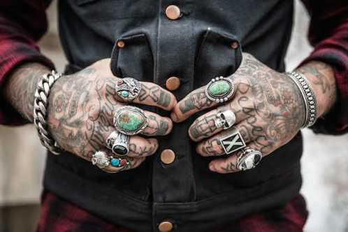 three line tales, week 31: tattoos  and sliver rings