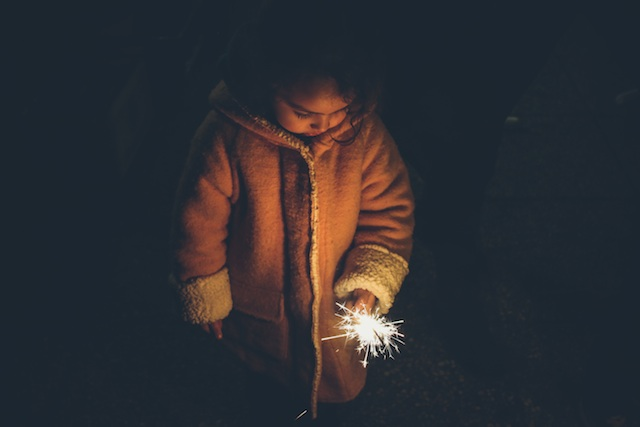 three line tales week 48 girl with sparkler