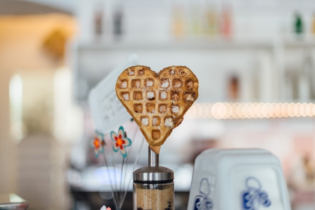 three line tales week 54: a waffle heart for Valentine's Day