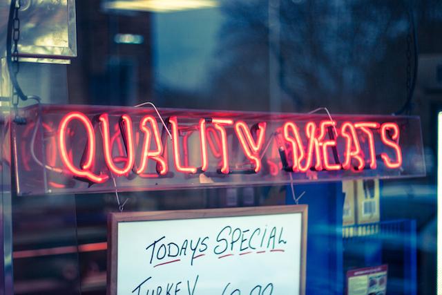three line tales writing challenge, week 60: quality meats marino market