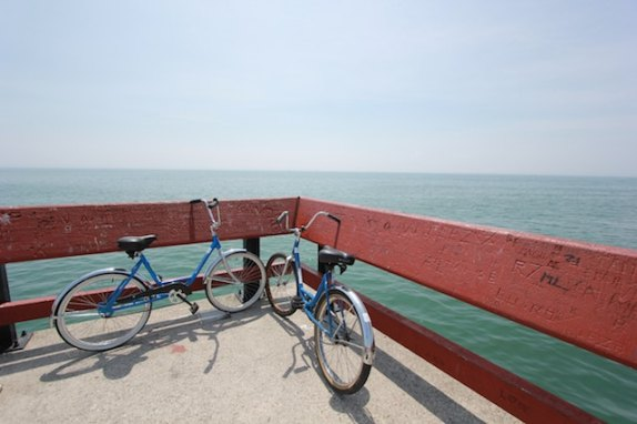 three line tales week 75: two bicycles in front of the ocean