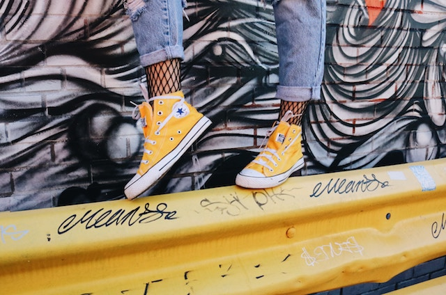 three line tales week 108: yellow converse and graffiti