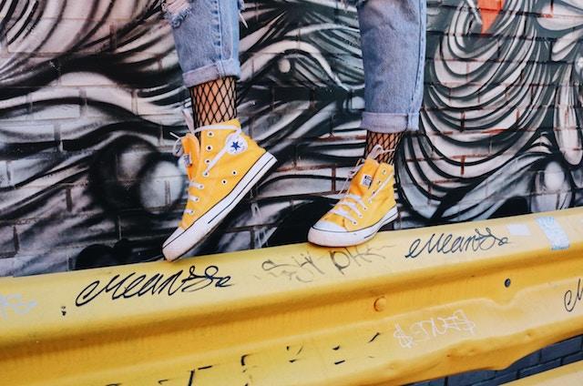 three line tales week 108: yellow converse and graffiti