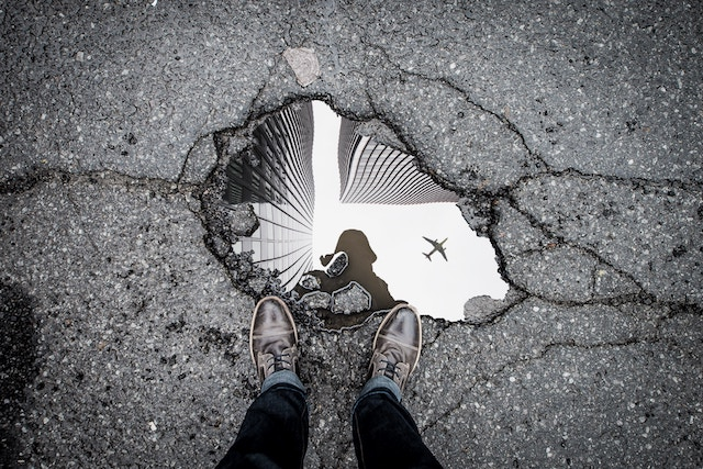 three line tales, week 123: a strange reflection in a puddle