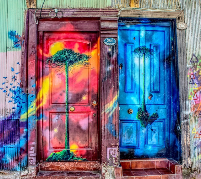 three line tales, week 124: two colourful doors that lead to ...