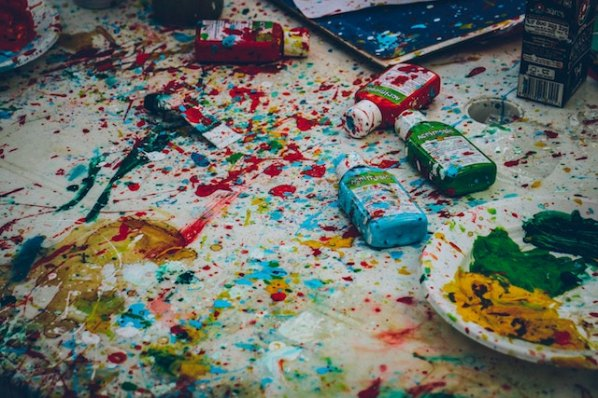 three line tales week 130: acrylic paints