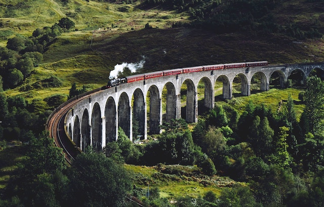 three line tales, week 145: a steam train crossing the Glenfinnan Viaduct