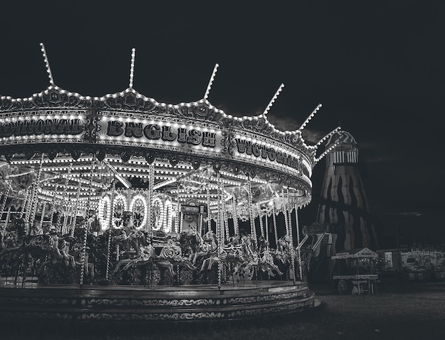 three line tales, week 151: an old carousel