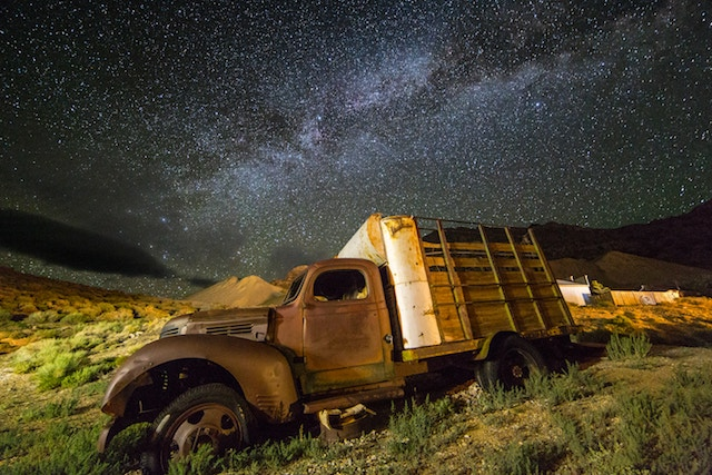 three line tales, week 155: an old truck in a ghost town