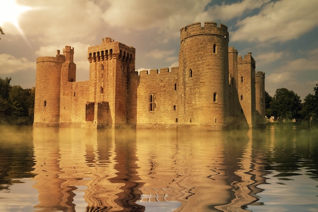 three line tales, week 179: a castle in a lake