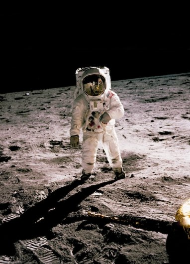 Buzz Aldrin on the Moon, photo taken by Neil Armstrong