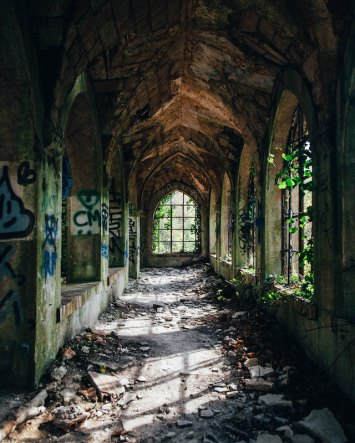 a cathedral ruin