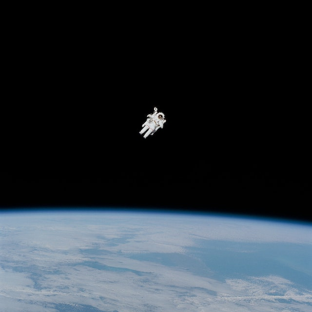 three line tales, week 217: an astronaut in space