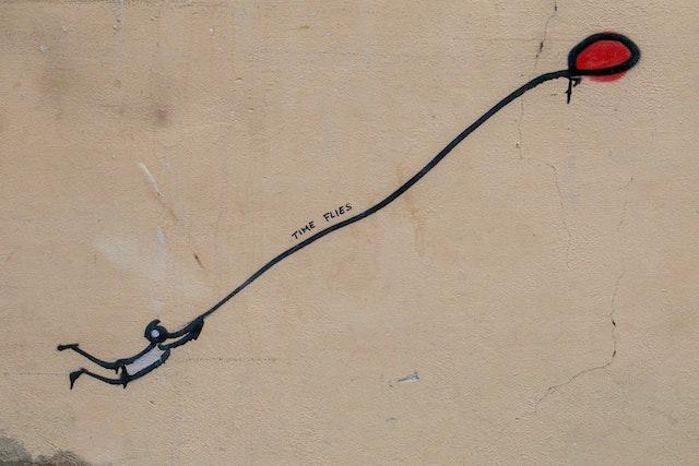 three line tales, week 224: time flies graffiti