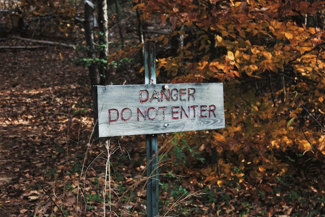 three line tales, week 226: danger, do not enter