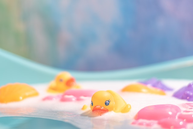 three line tales, week 232: rubber duckies in bubble bath