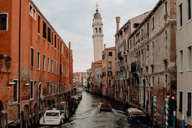 one of the less glamorous canals in Venice