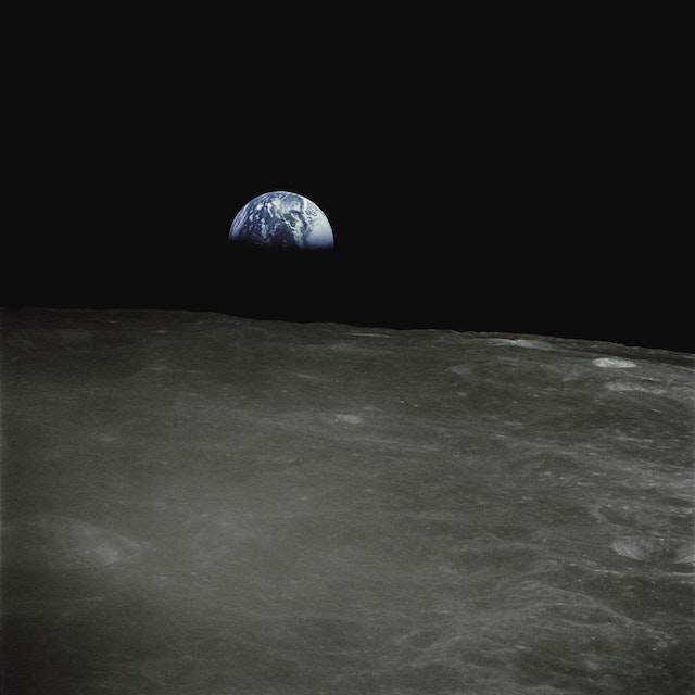 three line tales, week 273: Earth Rise as seen from the Moon (Apollo 16, 1972)