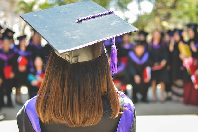 three line tales, week 277: graduation (gowns and mortar boards etc)